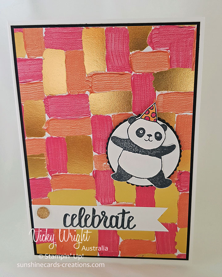 2018 Occasions Catalogue, 2018 SAB, Party Pandas, Painted with Love DSP, Vicky Wright, Stampin' Up!