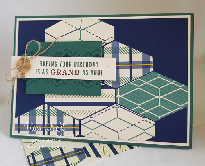 2018 Occasions Catlogue, True Gentleman Suite, True Gentleman DSP, Truly Tailored, Free Tutorial, Stampin' Up!