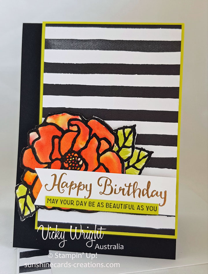 Beautiful Day, Petal Passion DSP, Brushos, 2018 Occasions, Free Tutorial, Stampin' Up!, #brushos #beautifulday #petalpassiondsp #stampinup