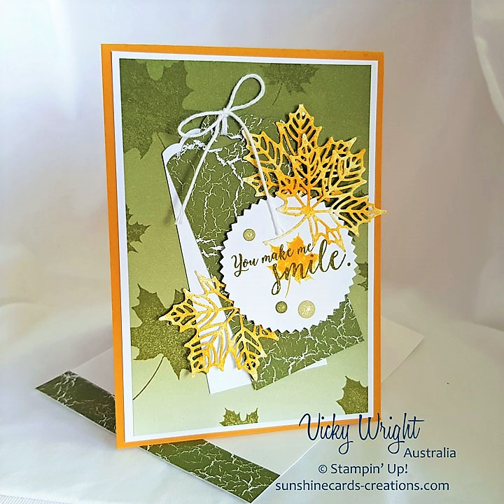 Colorful Seasons, Color Theory DSP, Seasonal Layers Thinlits, Stampin' Up, Vicky Wright, Free Tutorial, #seasonallayers #colortheorydsp #colorfulseasons