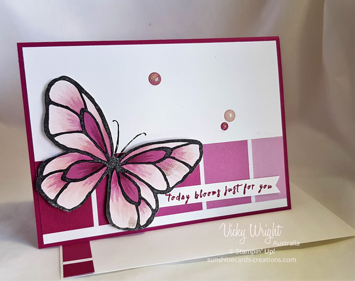 Beautiful You, Perennial BIrthday, 2018 Occasions, Color Theory DSP, Vicky Wright, Free Tutorial, Stampin' Up!, #loveitchopit