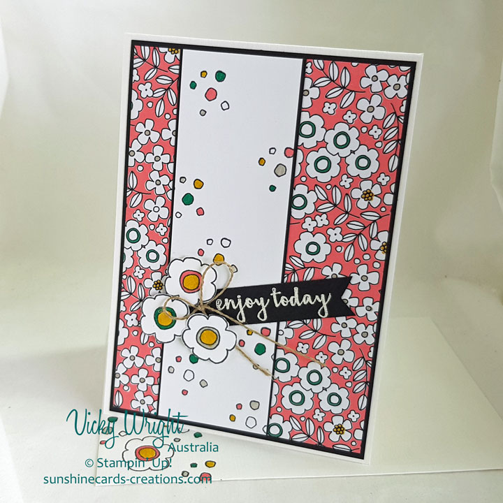 Pieces & Patterns, Pick a Pattern DSP, Stampin' Up!, Free Tutorial, #loveitchopit