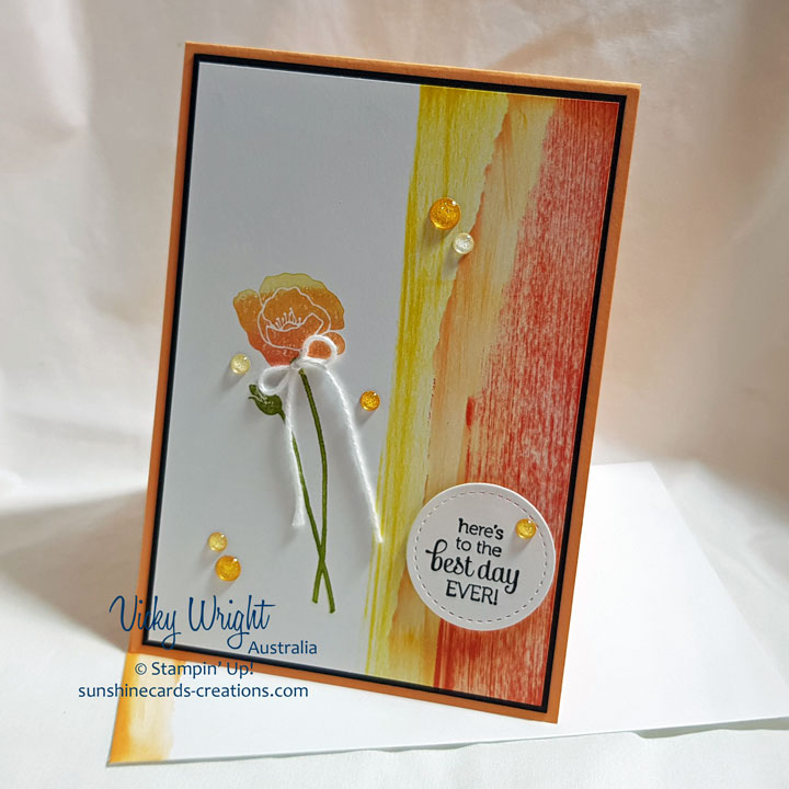 Flirty Flowers, Dragging Technique, Stampin' Up!, #flirtyflowers #flowers #lastchanceproducts #vickywright #stampinup #makeacardsendacard