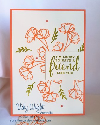 Just Getting Started Bundle, Love What You Do, Vicky Wright, Stampin' Up!, #sharewhatyoulovesuite #makeacardsendacard #stampinup #vickywright #freetutorial