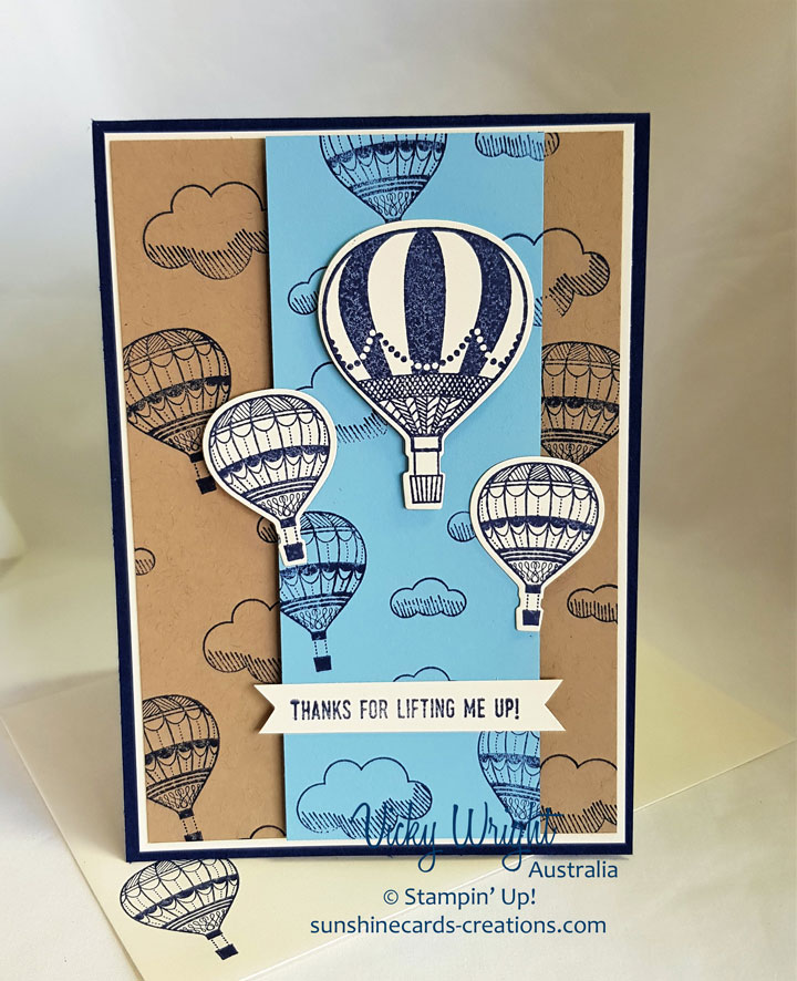Lift Me UP, Up & Away Thinlits, Free Tutorial, Stampin' Up! #liftmeup #makeacardsendacard #vickywright #stampinup