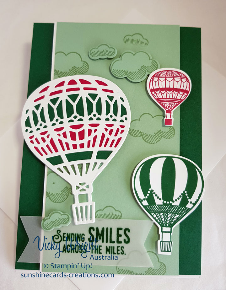 Lift Me Up, Up & Away Thinlits, Free Tutorial, Easel Card, Stampin' Up! #liftmeup #freetutorial #easelcard #vickywright #stampinup