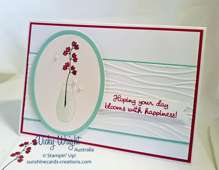 Varied Vases Bundle, Varied Vases, Vases Builder Punch, Colouring Class, Free Tutorial, Stampin' Up, #variedvasesbundle #colouringclass #makeacardsendacard #stampinup #vickywright