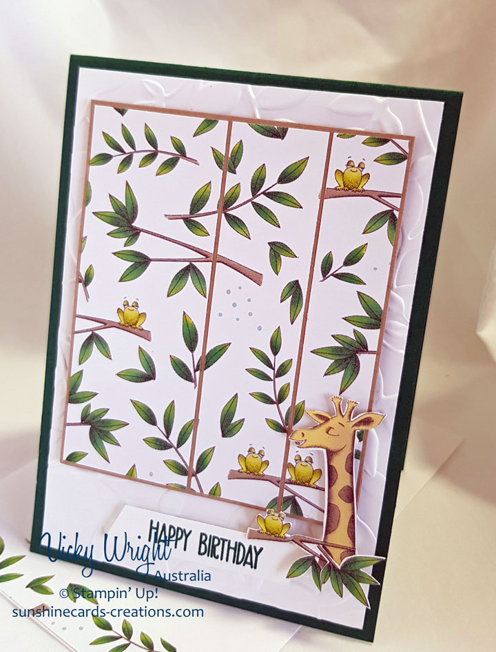 Animal Expedition DSP, Sunshine Sayings, Free Tutorial, Stampin' Up! #animalexpeditiondsp #sunshinesayings #freetutorial #loveitchopit #stampinup