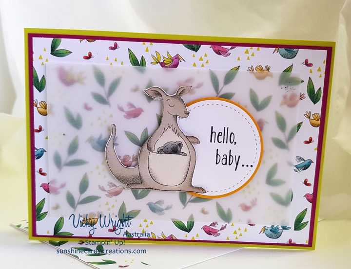 Baby Bear, Animal Expedition DSP, Free Tutorial, Stampin' Up! #babybear #animalexpeditiondsp #freetutorial #loveitchopit #stampinup