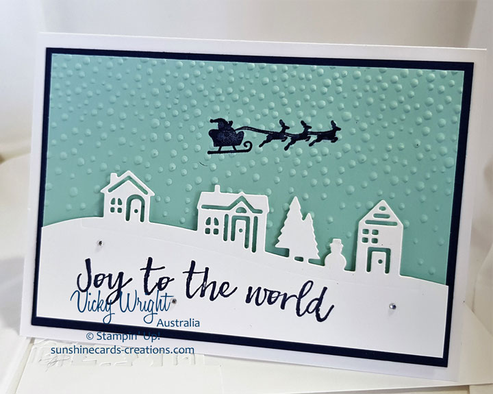 Hearts Come Home, Hometown Greeting Edgelits, Free Tutorial, Stampin' Up! #heartscomehome #christmas #freetutorial #vickywright #makeacardsendacard #stampinup