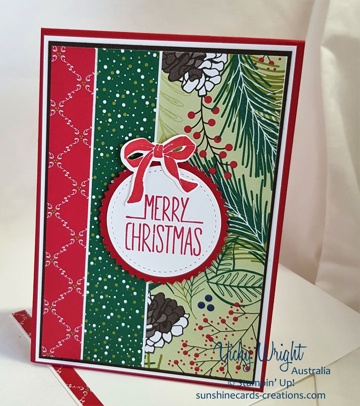 Better Together, Under the Mistletoe, Christmas, Free Tutorial, Stampin' Up! #underthemistletoedsp #bettertogether #freetutorial #loveitchopit #christmas #vickywright #stampinup
