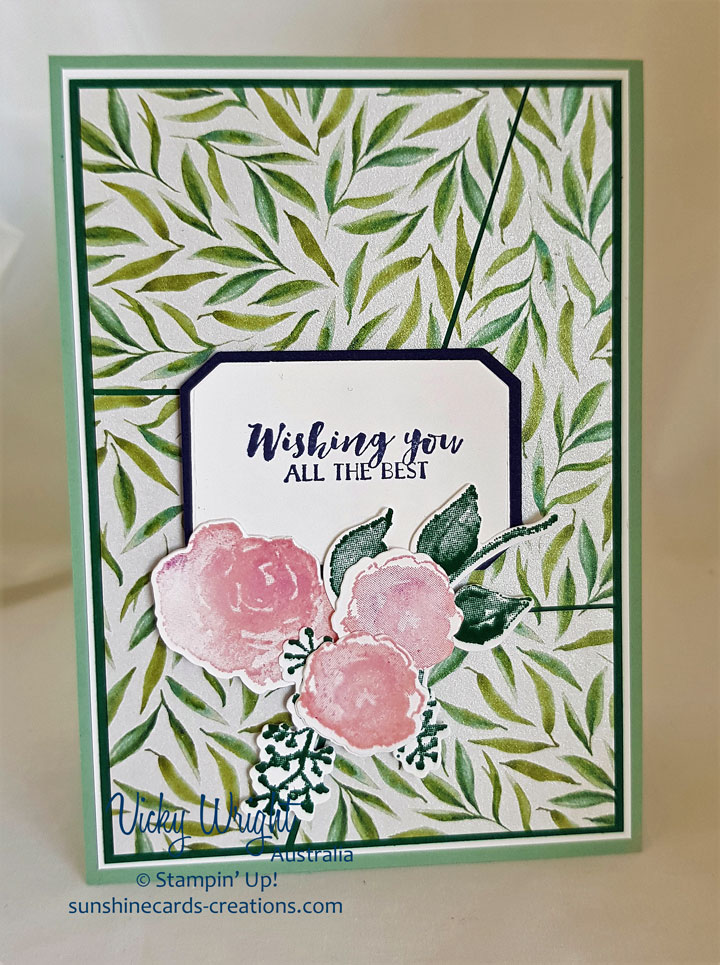 2018 Holiday Catalogue, First Frost, Frosted Floral Suite, Frosted Floral Framelits, Frosted Floral DSP, Free Tutorial, Stampin' Up, #frostedfloralsuite #firstfrost #forstedfloraldsp #2018holidaycatalogue #suo #stampinup #sdbh