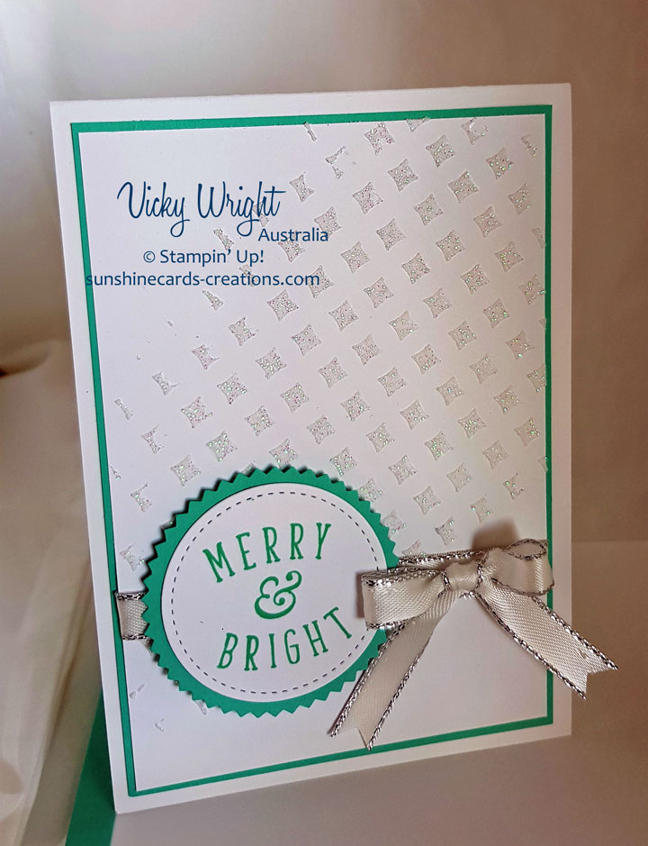 Another Wonderful Year, Embossing Paste Technique, Free Tutorial, Stampin' Up! #anotherwonderfulyear #freetutorial #embossingpastetecnhique #stampinup