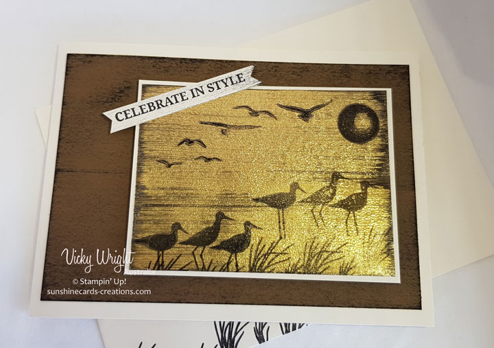 High Tide, Black Ice Technique, Free Tutorial, Stampin' Up! #hightide #blackicetechnique #freetutorial #stampinup
