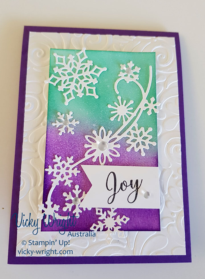 Snowflake Showcase, Christmas, Sowflake Thinlits, Snow is Glistening, Free Tutorial, Stampin' Up! #snowflakeshowcase #snowisglistening #stampindreamsbloghop #vickywright #stampinup