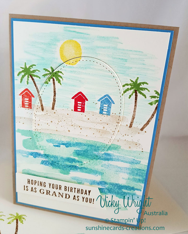 Waterfront, Free Tutorial, Watercoluring, Stampin' Up! #waterfront #eclipsetechnique #freetutorial #vickywright #stampinup