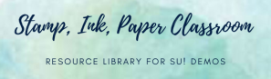 Stamp, Ink, Paper Classroom Logo